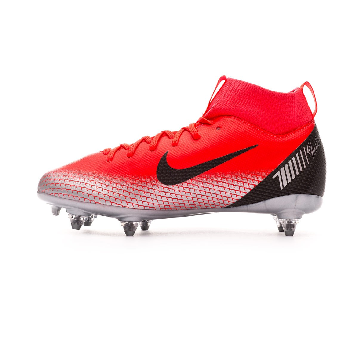 30abb8f83 Scarpe Nike Mercurial Superfly VI Academy CR7 SG-Pro Junior Bright  crimson-Black-Chrome-Dark grey - Negozio di calcio Fútbol Emotion