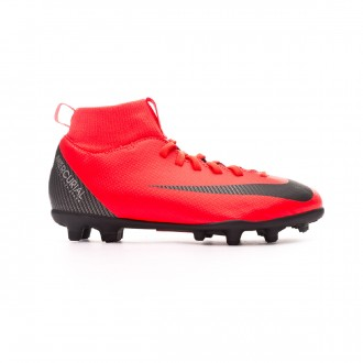Football Boots  Nike Kids Mercurial Superfly VI Club CR7 MG Bright crimson-Black-Chrome