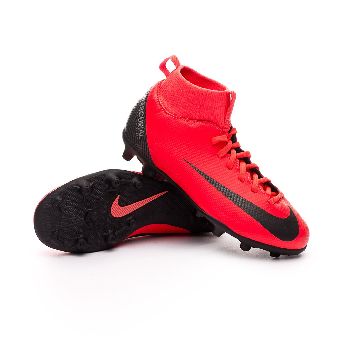 328bf7b55 Boot Nike Kids Mercurial Superfly VI Club CR7 MG Bright crimson ...
