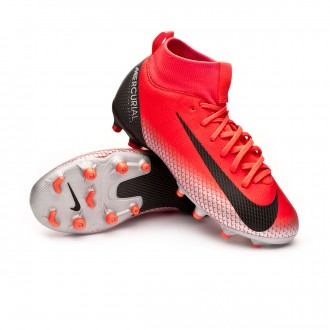 Bota  Nike Mercurial Superfly VI Academy CR7 MG Niño Bright crimson-Black-Chrome-Dark grey