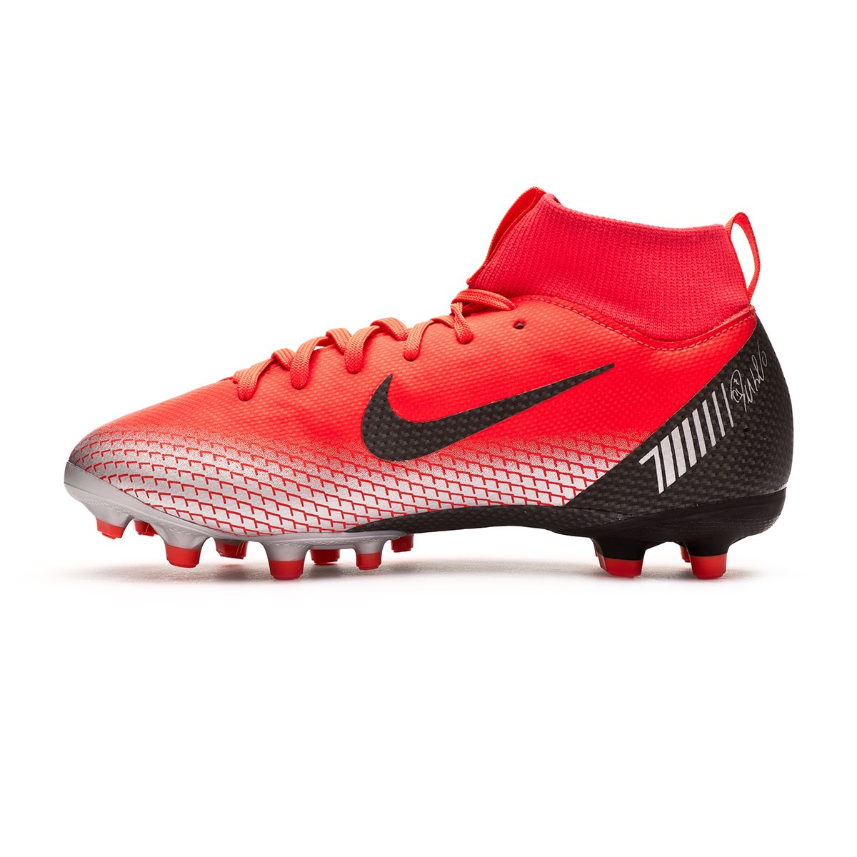 magasin d'usine d6174 21f33 Bota Mercurial Superfly VI Academy CR7 MG Niño Bright  crimson-Black-Chrome-Dark grey