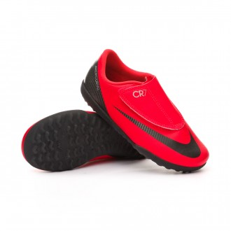 Football Boot  Nike Kids Mercurial VaporX XII Club CR7 Turf Bright crimson-Black-Chrome