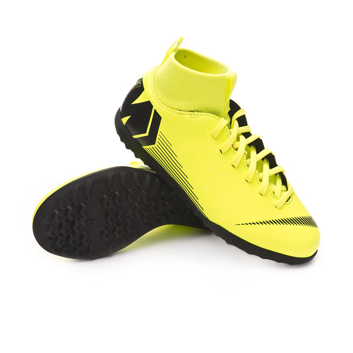 1d3ce79e441 Sapatilhas Nike Mercurial SuperflyX VI Club Turf Niño Volt-Black - Loja de  futebol Fútbol Emotion