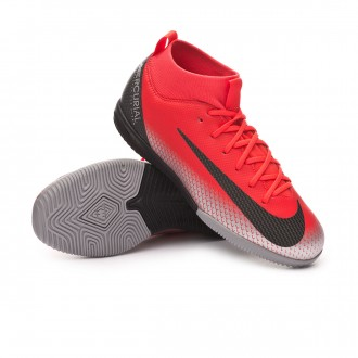 Futsal Boot  Nike Kids Mercurial SuperflyX VI Academy CR7 IC  Bright crimson-Black-Chrome-Dark grey