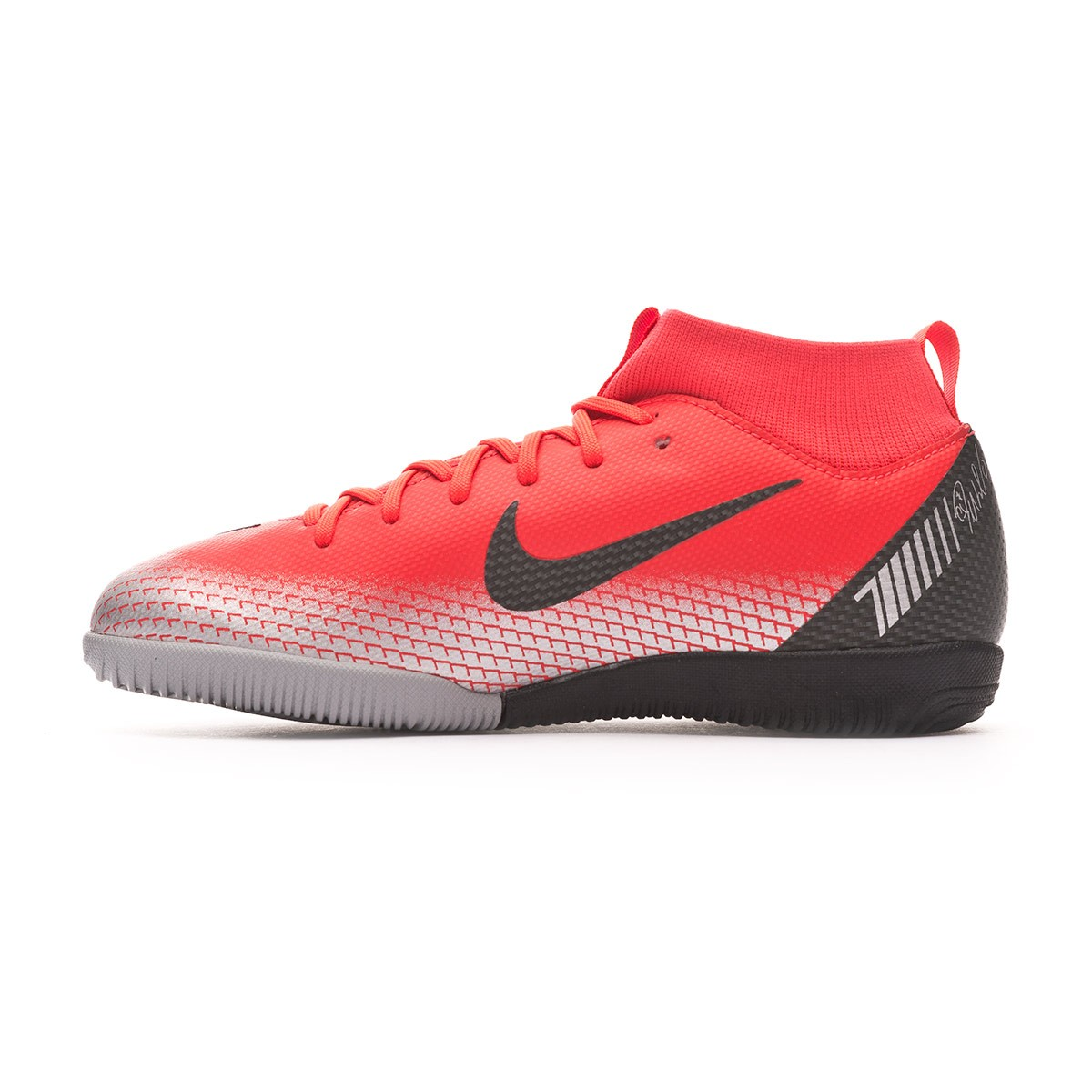 93ee2073f0fe Futsal Boot Nike Kids Mercurial SuperflyX VI Academy CR7 IC Bright  crimson-Black-Chrome-Dark grey - Leaked soccer