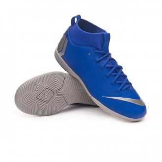 Zapatilla  Nike Mercurial SuperflyX VI Academy IC Niño Racer blue-Metallic silver-Black-Volt