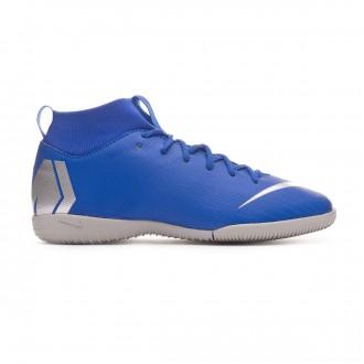 Tenis  Nike Mercurial SuperflyX VI Academy IC Niño Racer blue-Metallic silver-Black-Volt