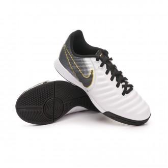 Sapatilha de Futsal  Nike Tiempo LegendX VII Academy IC Niño White-Black