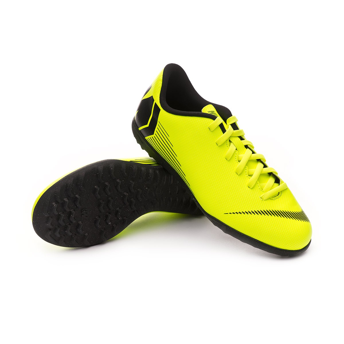 02706ac44 Nike Kids Mercurial VaporX XII Club Turf Football Boot. Volt-Black ...