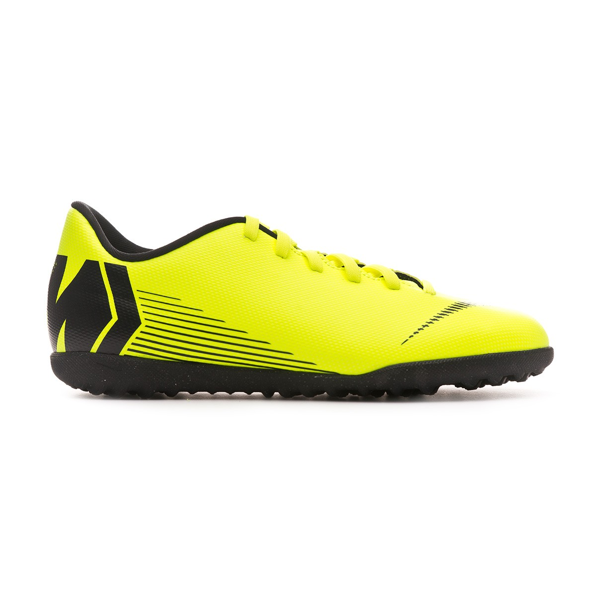 41c28af96 Football Boot Nike Kids Mercurial VaporX XII Club Turf Volt-Black - Tienda  de fútbol Fútbol Emotion