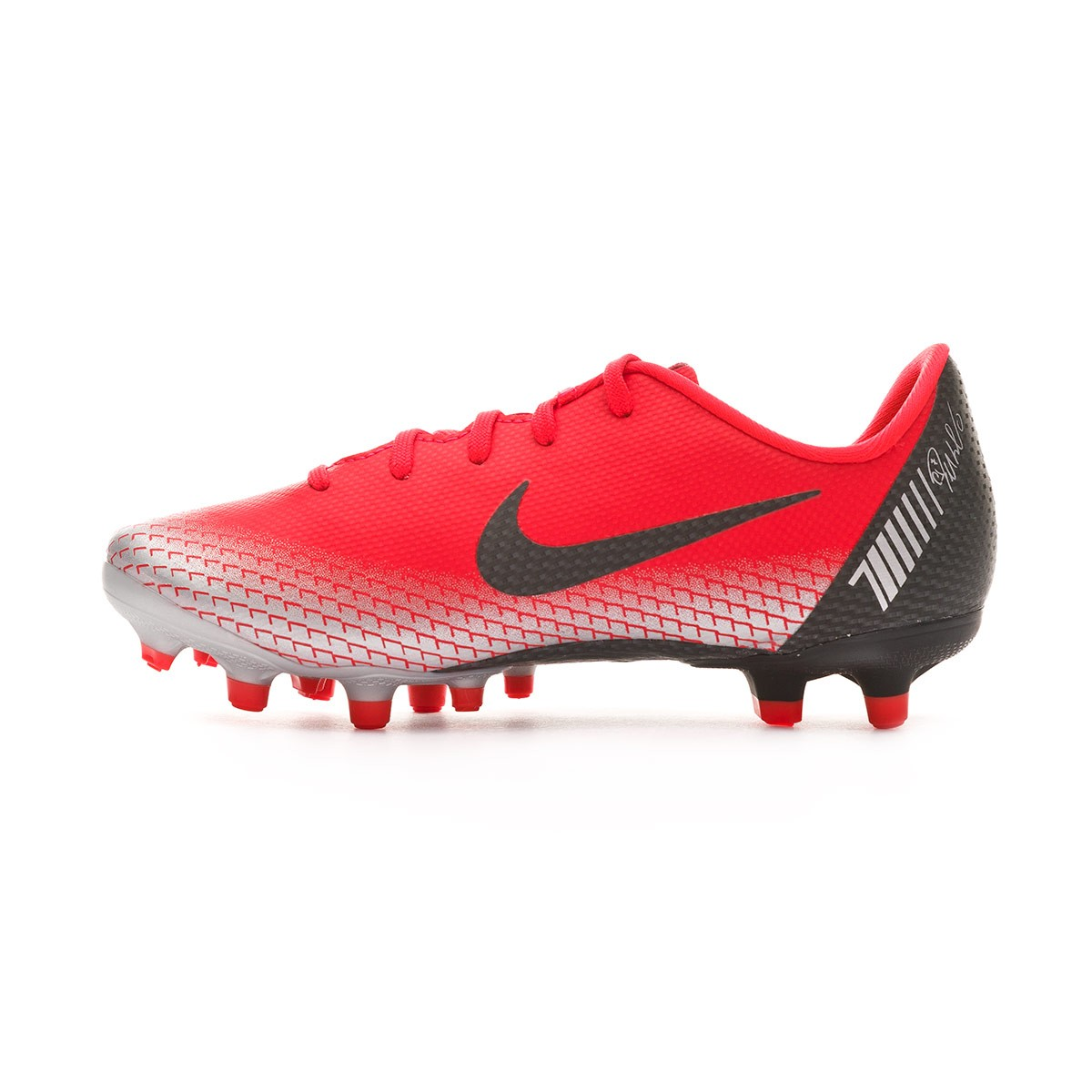 new concept eddb4 ae8bb Chaussure de foot Nike Mercurial Vapor XII Academy MG enfant Bright crimson-Black-Chrome-Dark  grey - Boutique de football Fútbol Emotion