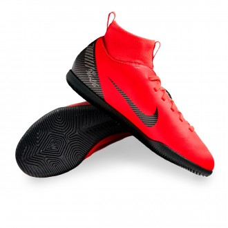 Futsal Boot  Nike Mercurial SuperflyX VI Club CR7 IC Niño Bright crimson-Black-Chrome