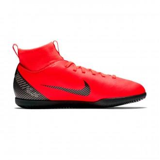 Zapatilla  Nike Mercurial SuperflyX VI Club CR7 IC Niño Bright crimson-Black-Chrome