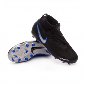 Boot  Nike Phantom Vision Academy DF FG/MG Niño Black-Metallic silver-Racer blue