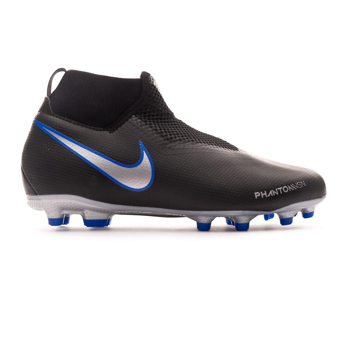 3951616e5733b Football Boots Nike Phantom Vision Academy DF FG MG Niño Black-Metallic  silver-Racer blue - Tienda de fútbol Fútbol Emotion