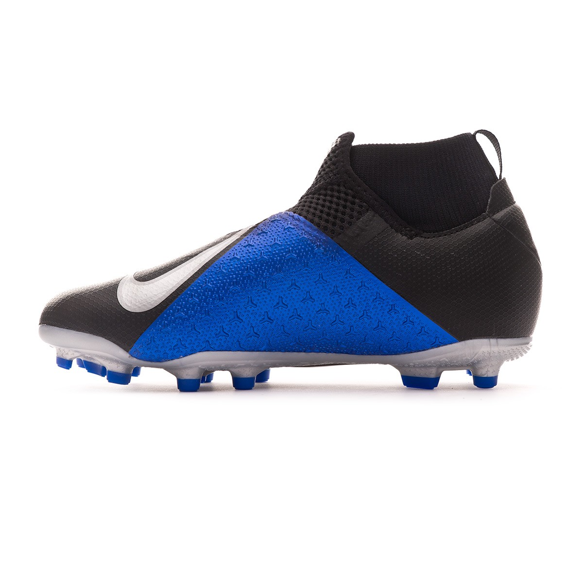 6c3d3ead302 Bota de fútbol Nike Phantom Vision Academy DF FG/MG Niño Black-Metallic  silver-Racer blue - Tienda de fútbol Fútbol Emotion