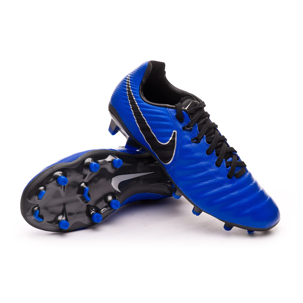 pañuelo de papel patrocinado Ruina  Football Boots Nike Kids Tiempo Legend VII Elite FG Racer  blue-Black-Metallic silver - Football store Fútbol Emotion