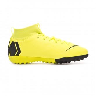Chaussure de football  Nike Mercurial SuperflyX VI Academy Turf Niño Volt-Black