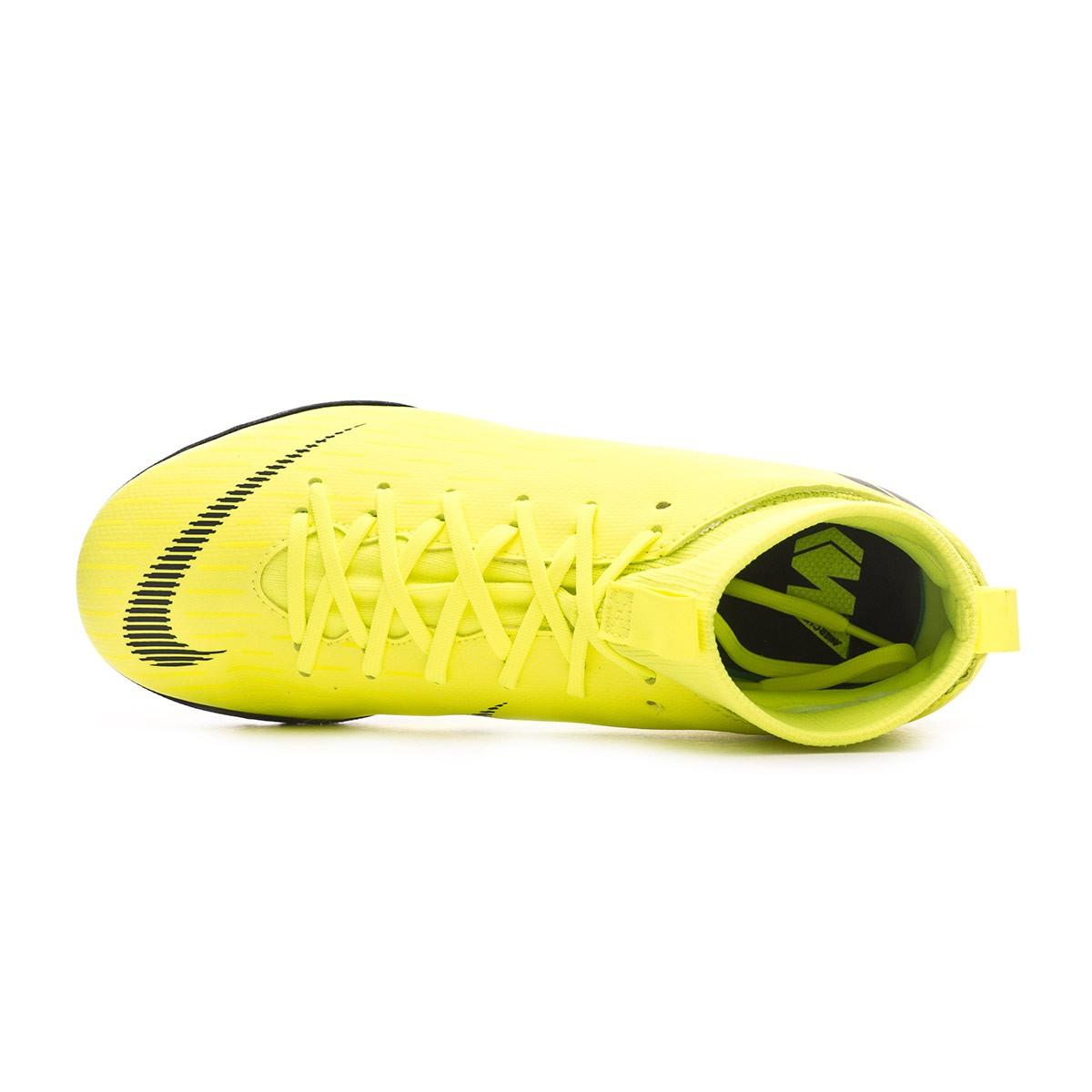 60fee915245 Football Boot Nike Kids Mercurial SuperflyX VI Academy Turf Volt-Black - Tienda  de fútbol Fútbol Emotion