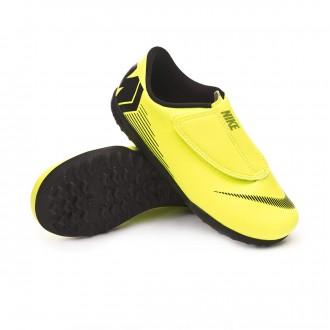 Football Boot Nike Kids Mercurial Vapor XII Club Turf Volt-Black 5101d46d9dcd6