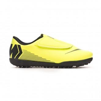 Chaussure de football  Nike Mercurial VapoX XII Club Velcro Turf Niño Volt-Black