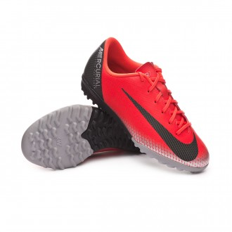 Football Boot  Nike Kids Mercurial VaporX XII Academy CR7 Turf Bright crimson-Black-Chrome-Dark grey