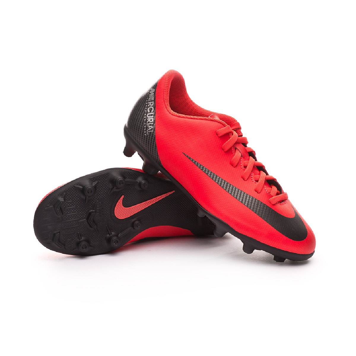 buy popular f6c1c e3b6b ... Bota Mercurial Vapor XII Club CR7 MG Niño Bright crimson-Black-Chrome.  CATEGORY