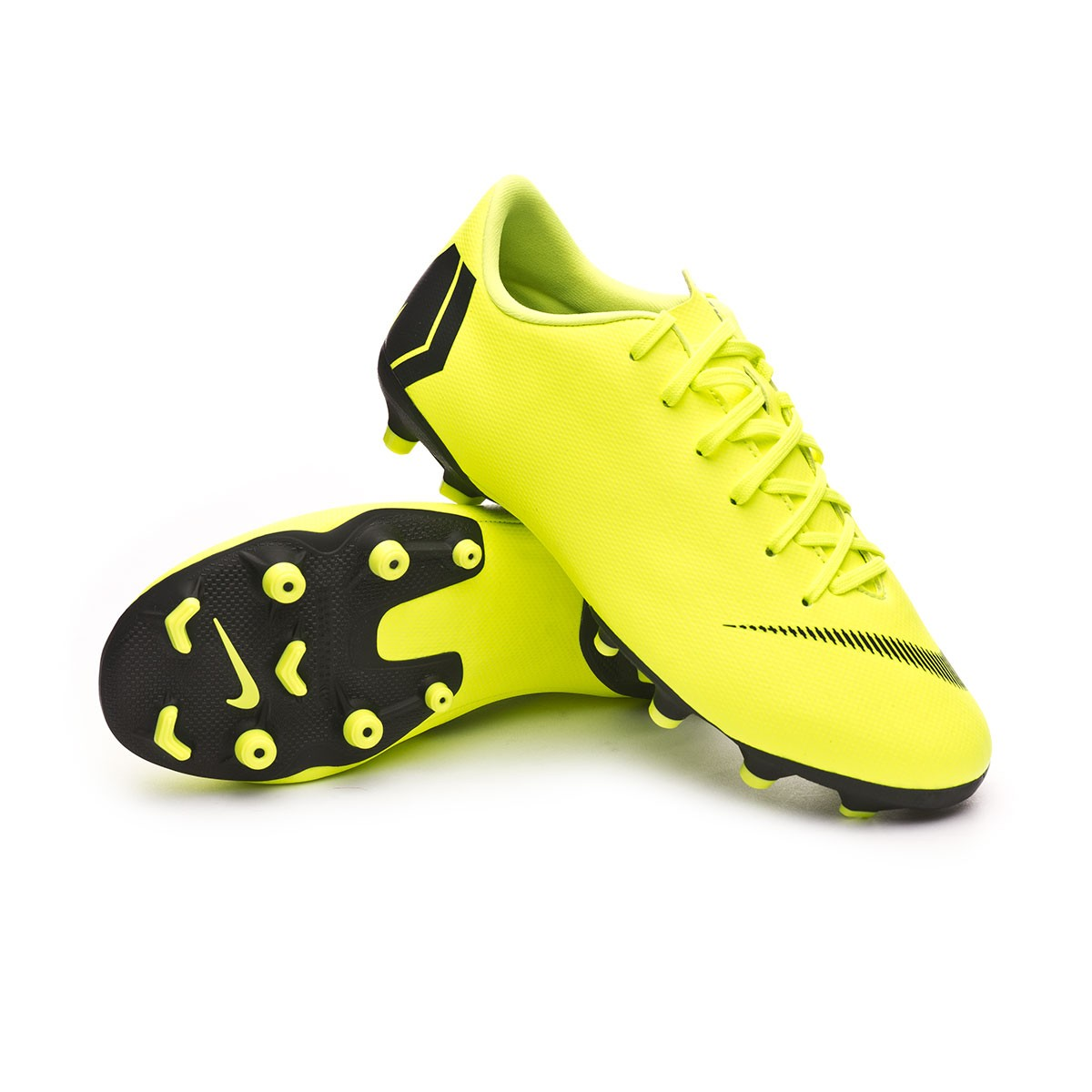 Volt//Black Nike Youth Mercurial Victory V Turf