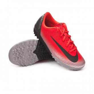 Zapatilla  Nike Mercurial VaporX XII Academy CR7 Turf Niño Bright crimson-Black-Chrome-Dark grey