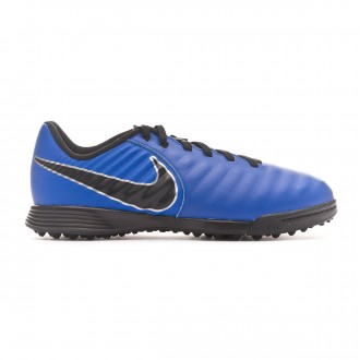 Zapatilla  Nike Tiempo LegendX VII Academy Turf Niño Racer blue-Black-Metallic silver