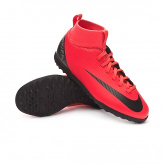 Football Boot  Nike Kids Mercurial SuperflyX VI Club CR7 Turf iño Bright crimson-Black-Chrome