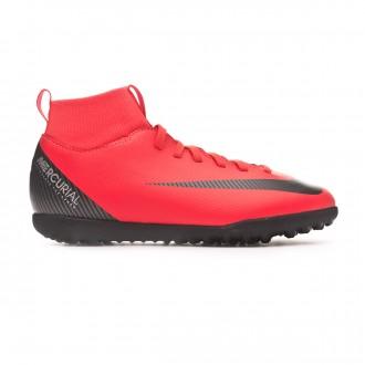 Football Boot  Nike Kids Mercurial SuperflyX VI Club CR7 Turf Bright crimson-Black-Chrome