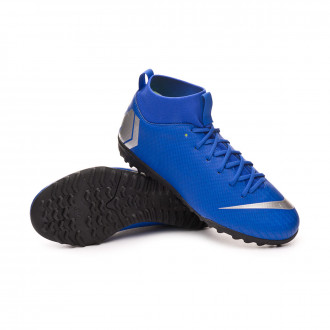 Football Boot  Nike Mercurial SuperflyX VI Academy Turf Niño Racer blue-Metallic silver-Black-Volt