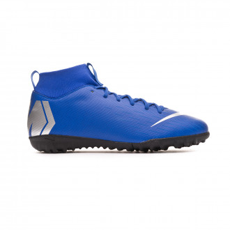Football Boot  Nike Kids Mercurial SuperflyX VI Academy Turf Racer blue-Metallic silver-Black-Volt