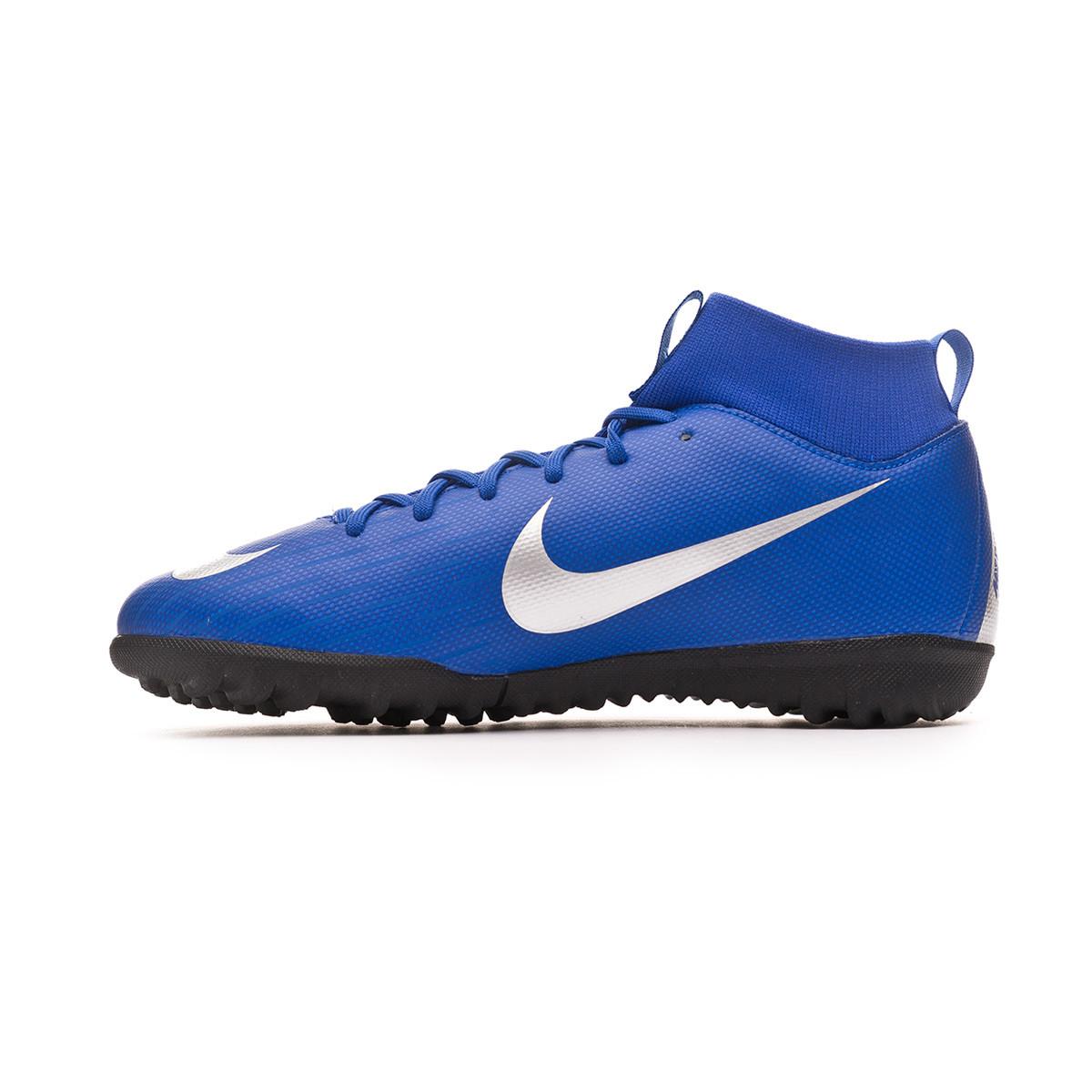 e64033f82df Football Boot Nike Kids Mercurial SuperflyX VI Academy Turf Racer  blue-Metallic silver-Black-Volt - Tienda de fútbol Fútbol Emotion