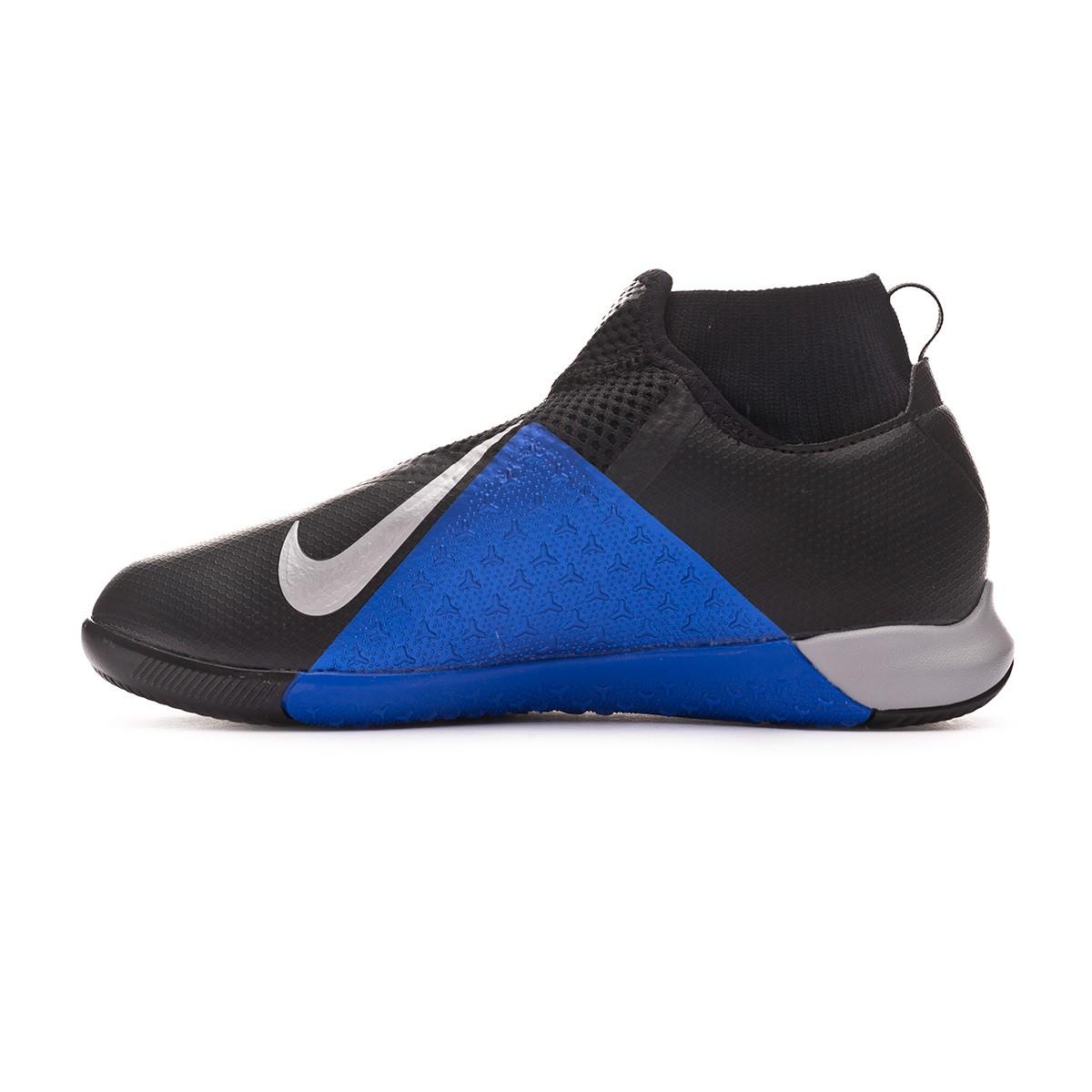 286520a0c58 Futsal Boot Nike Phantom Vision Academy DF IC Niño Black-Metallic  silver-Racer blue - Football store Fútbol Emotion