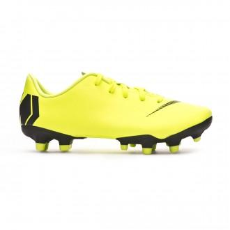 Football Boots  Nike Kids Mercurial Vapor XII Academy MG Volt-Black