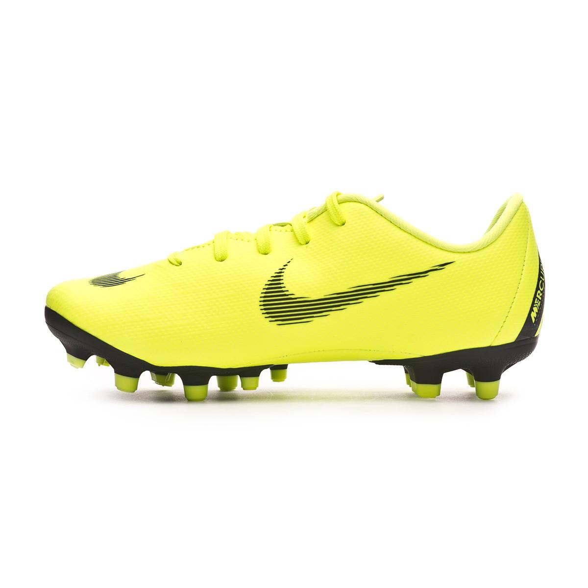 db8724588 Football Boots Nike Kids Mercurial Vapor XII Academy MG Volt-Black - Tienda  de fútbol Fútbol Emotion