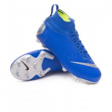 Bota Mercurial Superfly VI Elite FG Niño Racer blue-Metallic silver-Black-Volt