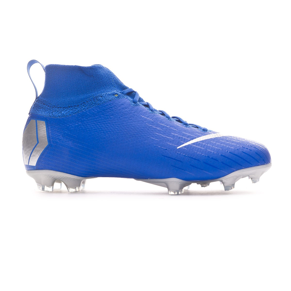 d761d96224 Football Boots Nike Kids Mercurial Superfly VI Elite FG Racer blue-Metallic  silver-Black-Volt - Tienda de fútbol Fútbol Emotion