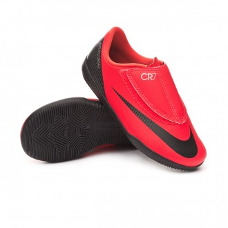 Zapatilla  Nike Mercurial VaporX XII Club CR7 IC Niño Bright crimson-Black-Chrome
