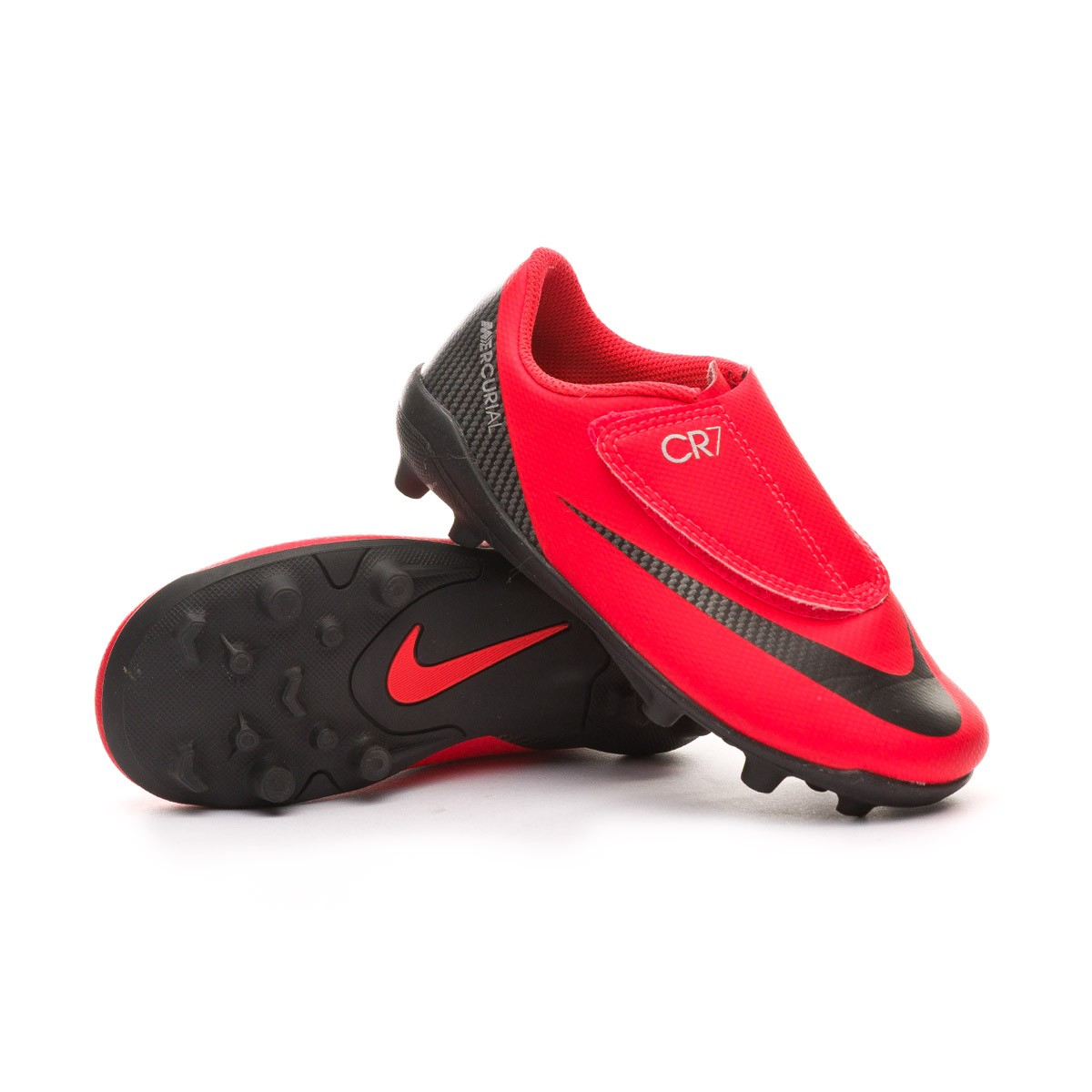 358b9c07d33 Bota de fútbol Nike Mercurial Vapor XII Club CR7 MG Niño Bright  crimson-Black-Chrome - Tienda de fútbol Fútbol Emotion