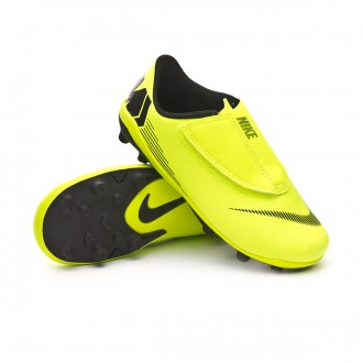 Bota  Nike Mercurial Vapor XII Club Velcro MG Niño Volt-Black