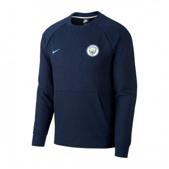 Sweatshirt Nike Manchester City FC 2018-2019 Black-Midnight navy-Field blue