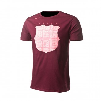 Camiseta  Nike FC Barcelona CL Hook 2018-2019 Deep maroon