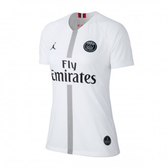 Maglia  Nike Paris Saint-Germain Stadium Terza Divisa 2018-2019 Donna White-Black