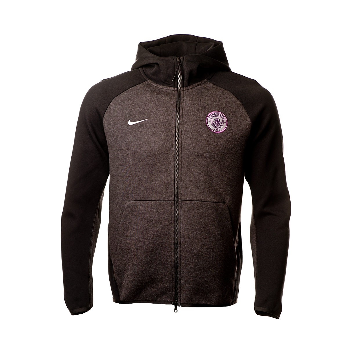 5b0250a51 Sweatshirt Nike Manchester City FC Tech Fleece 2018-2019 Black-Metallic  silver - Tienda de fútbol Fútbol Emotion