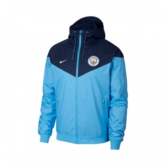 Chaqueta  Nike Manchester City FC Windrunner 2018-2019 Field blue-Midnight navy-White