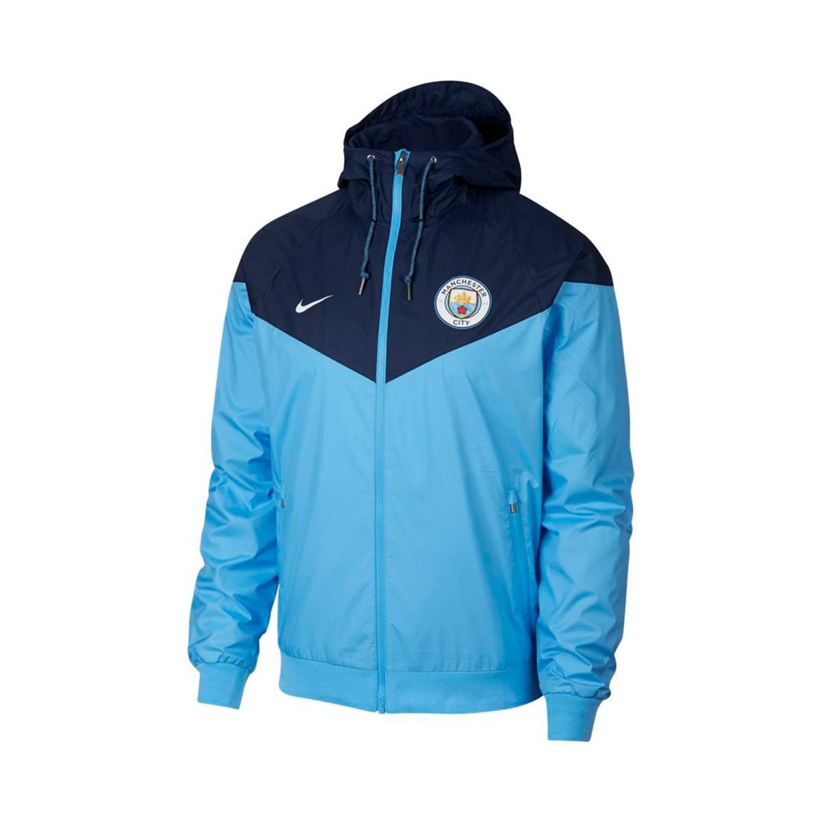 48e7a75de8c4 Nike Manchester City FC Windrunner 2018-2019 Jacket. Field blue-Midnight  navy-White ...
