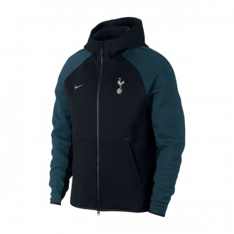 Jacket  Nike Tottenham Hotspur FC Tech Fleece 2018-2019 Black-Armory navy-Metallic silver